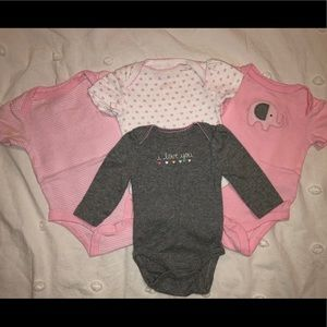 Carter's One Pieces - Baby Girl Onesies - Lot of 4